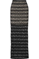 Alice Olivia Ettley Lace Maxi Skirt Black