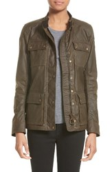 Belstaff Women's 'Roadmaster' Waxed Cotton Coat Faded Olive