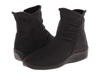 Arcopedico L19 Black Faux Suede Women's Zip Boots