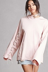 Forever 21 Private Academy Lace Up Hoodie