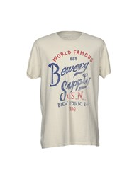 Bowery T Shirts Light Grey