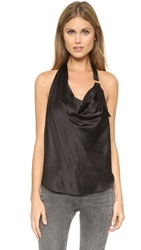 Ramy Brook Kay Halter Blouse Black