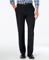 Alfani Men's Slim Fit Windowpane Check Flat Front Pants Only At Macy's Navy