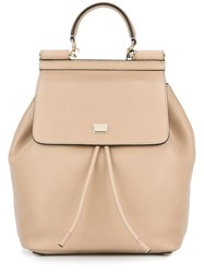 Dolce And Gabbana 'Sicily' Backpack Nude And Neutrals