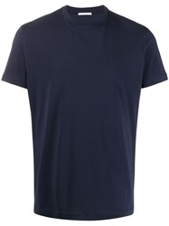 Low Brand Plain Basic T Shirt Blue