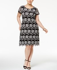 Inc International Concepts Plus Size Lace Sheath Dress Only At Macy's Black White