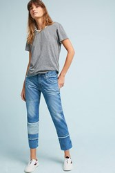 Anthropologie Ag Ex Boyfriend Mid Rise Straight Cropped Jeans Denim Light