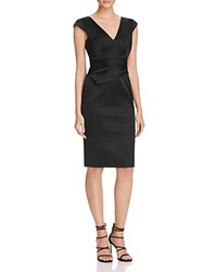 Karen Millen Satin Pencil Dress 100 Bloomingdale's Exclusive Black
