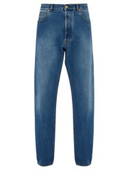 Versace Medusa Head Loose Fit Denim Jeans Blue