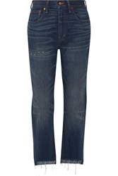 Madewell Perfect Vintage High Rise Straight Leg Jeans Dark Denim