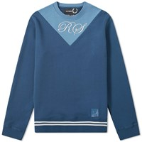 Raf Simons X Fred Perry V Insert Crew Sweat Blue