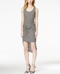 Bar Iii Striped Knotted High Low Dress Only At Macy's