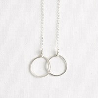 By Boe Silver Circles Necklace