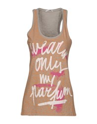 Gas Jeans Tank Tops Grey