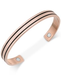 Sutton By Rhona Sutton Men's Copper And Black Ip Plated Stainless Steel Cuff Bracelet No Color