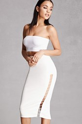 Forever 21 Rehab Ladder Cutout Skirt