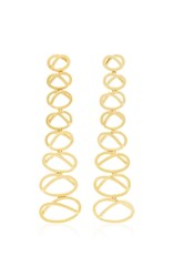 Joanna Laura Constantine Gold Plated Dangling Knot Earrings