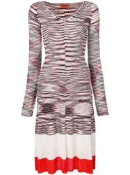 Missoni Striped Knitted Dress White