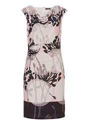 Vera Mont Printed Cowl Neck Dress Multi Coloured
