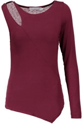 Kain Label Moore Asymmetric Modal Top Burgundy