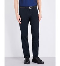 Hugo Boss Slim Fit Tapered Chinos Dark Blue
