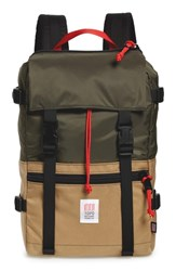 Topo Designs 'Rover' Backpack Green Olive Khaki