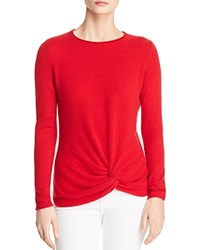 Bloomingdale's C By Twist Front Cashmere Sweater 100 Exclusive Red