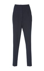 Rahul Mishra Checkered Twill Trousers Navy