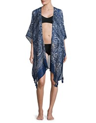 Collection 18 Amoda Paisley Printed Wrap Denim Blue