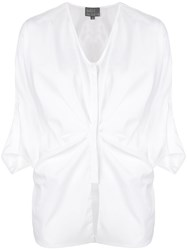 Roberta Furlanetto Pleated Waist Blouse White