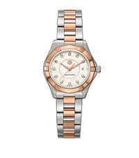 Tag Heuer Aquaracer Bicolour Diamond Dial Watch Unisex Silver