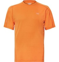 Arc'teryx Motus Slim Fit Phasic Fl T Shirt Bright Orange