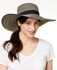 August Hats Rose All Day Floppy Hat Black Natural