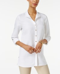 Jm Collection Wing Collar Roll Tab Shirt Only At Macy's Bright White