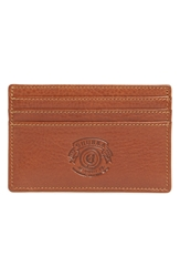 Ghurka Leather Card Case Vintage Chestnut