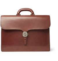 James Purdey And Sons Audley Leather Briefcase Brown