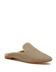 Frye Gwen Perforated Leather Mules Taupe