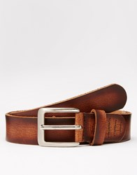 Lyle And Scott Leather Belt Brown