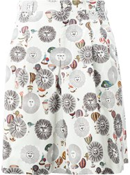 Comme Des Garcons Homme Plus Fornasetti Printed Shorts White