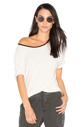 James Perse Relaxed Ringer Tee White