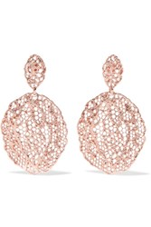 Aurelie Bidermann Lace Rose Gold Plated Earrings One Size