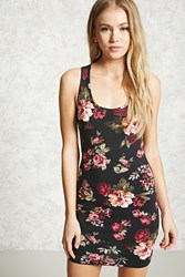 Forever 21 Floral Bodycon Tank Dress