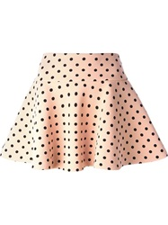 Red Valentino Polka Dot Skater Skirt Pink And Purple