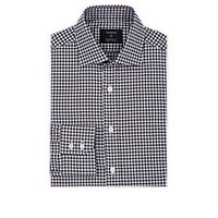 Fairfax Checked Cotton Poplin Dress Shirt Navy