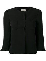 L'autre Chose Fitted Jacket Women Polyester Cupro 44 Black