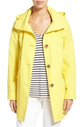 Women's Ellen Tracy A Line Sailcloth Coat With Detachable Hood Sun