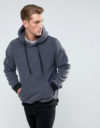 Bellfield Hoodie In Washed Borg Charcoal Overdyed Grey