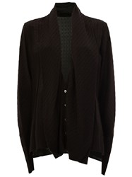 Haider Ackermann Draped Shawl Collar Cardigan Black