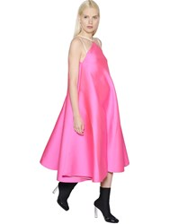Maison Rabih Kayrouz Flared Techno And Silk Satin Dress