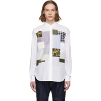 Junya Watanabe White Multi Fabric Mix Shirt